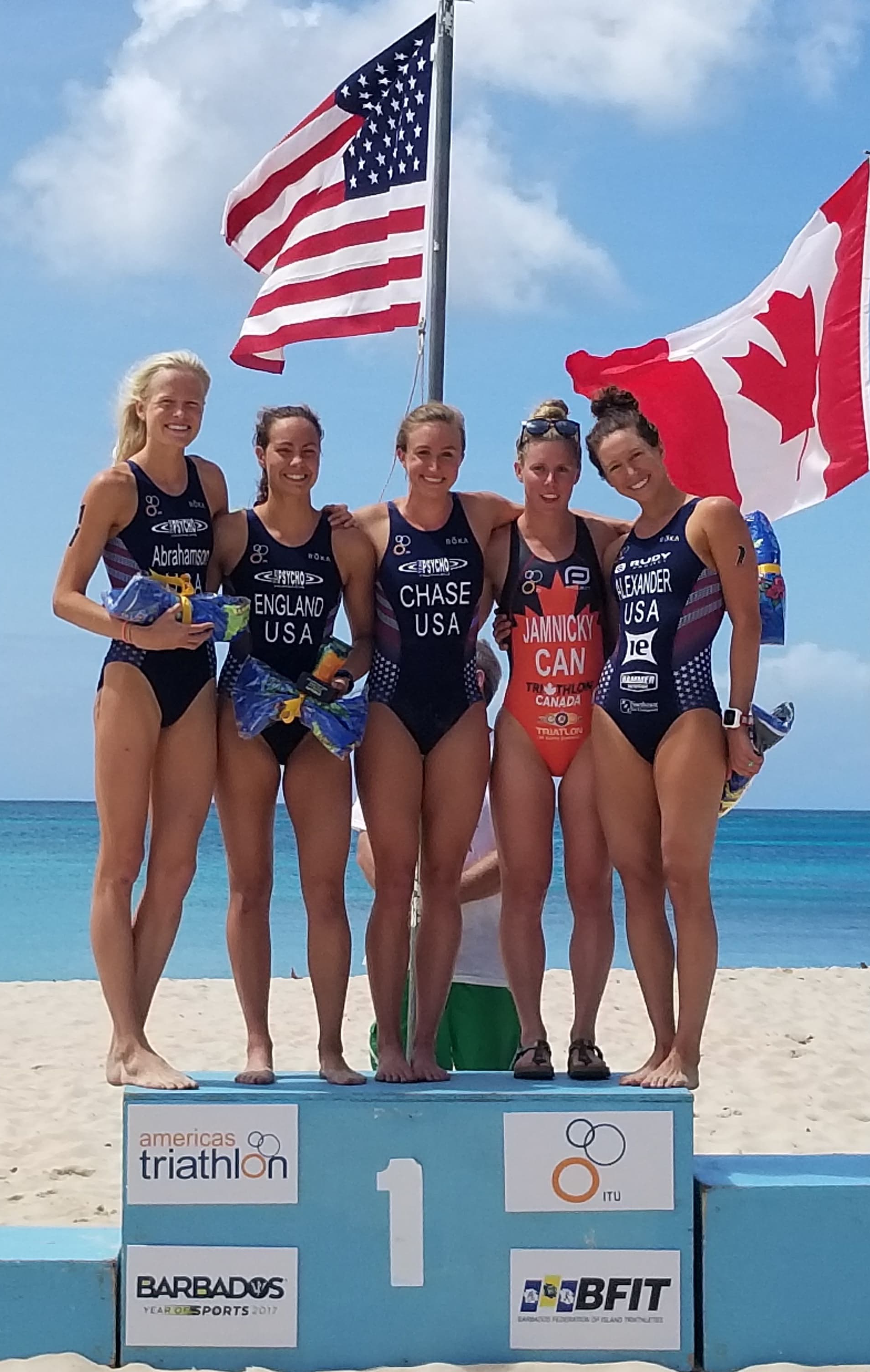 4 place at Barbados -- loved sharing the top 5 with my three AWESOME teammates! <3 <3 (photo credit:  Dana Allison )