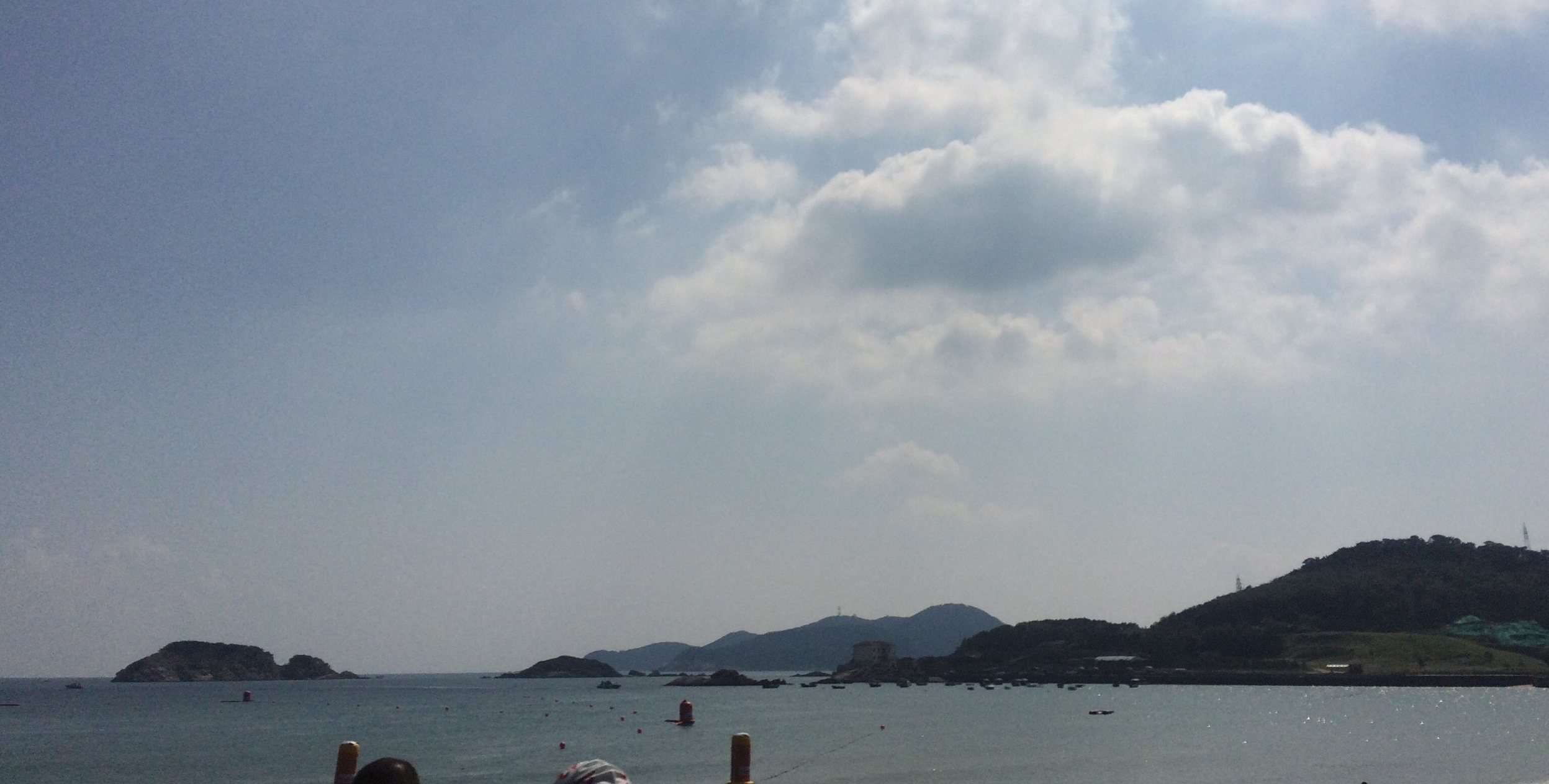 Swim course in Half Moon Bay