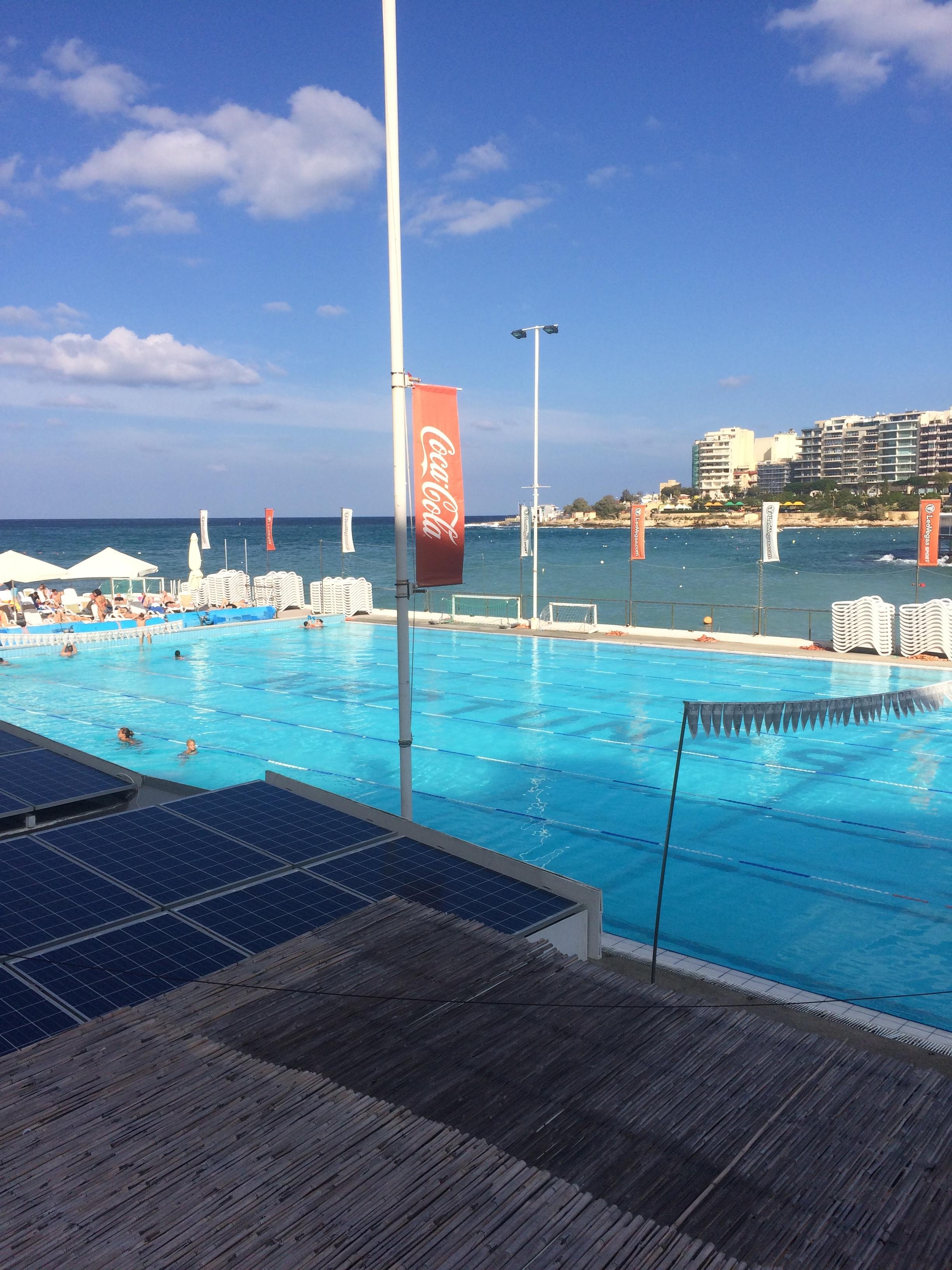 Seaside swimming in Malta!