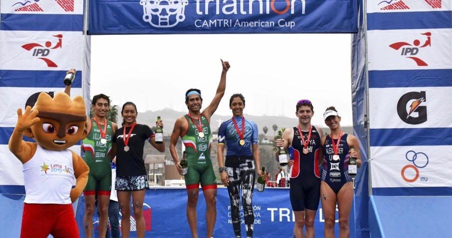 The podium at 2018 CAMTRI Lima