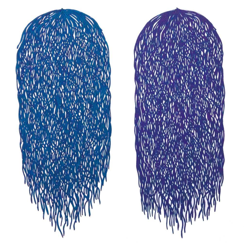 Bunch #3 & #4 (blue/purple)