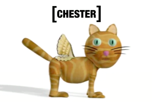 Chester  the Computational Cat helps illustrate the importance of trade-offs in evolution.