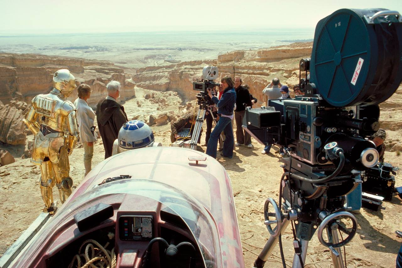 Filming Star Wars: A New Hope.
