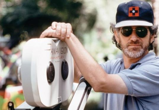 Spielberg on the set of Jurassic Park.