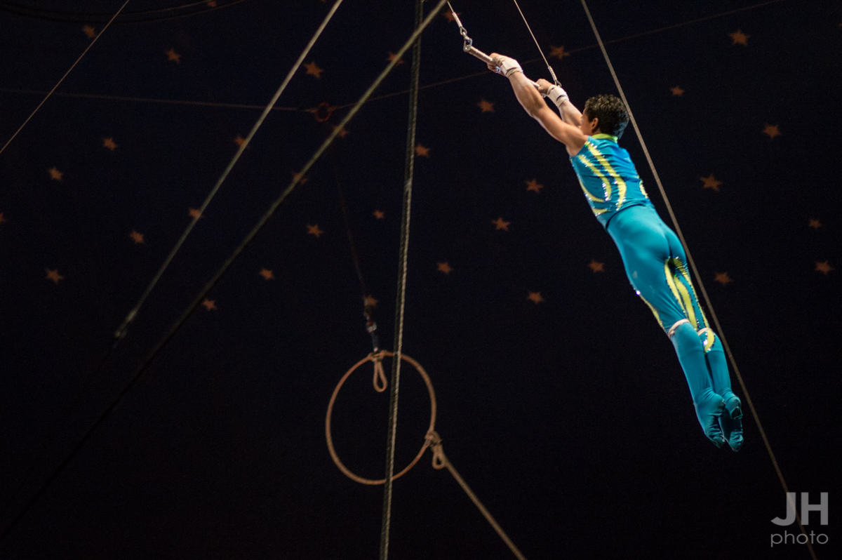 trapeze act at the Cole Bros. Circus in Myrtle Beach, South Carolina