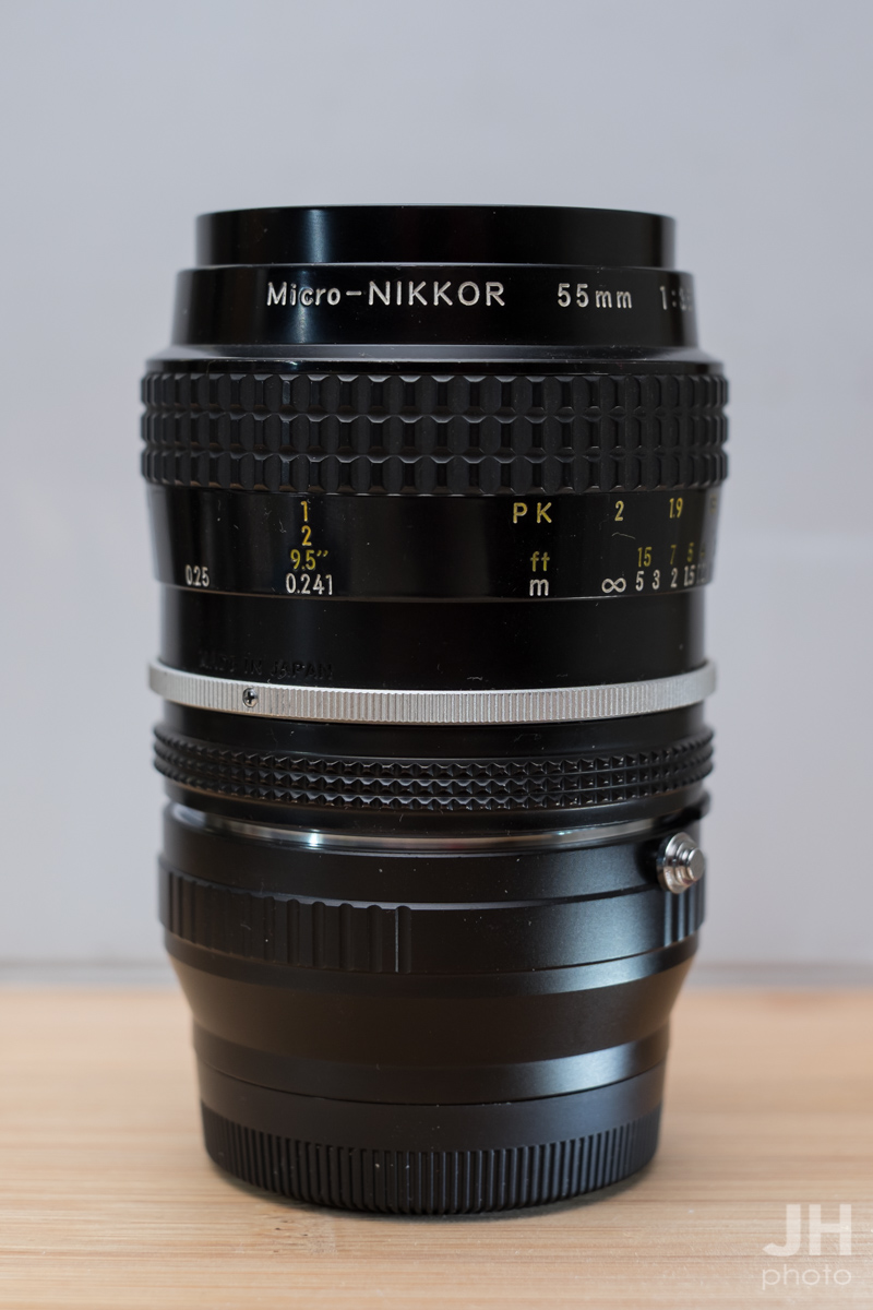 55mm 3.5 Micro with Fuji X Mount Adapter
