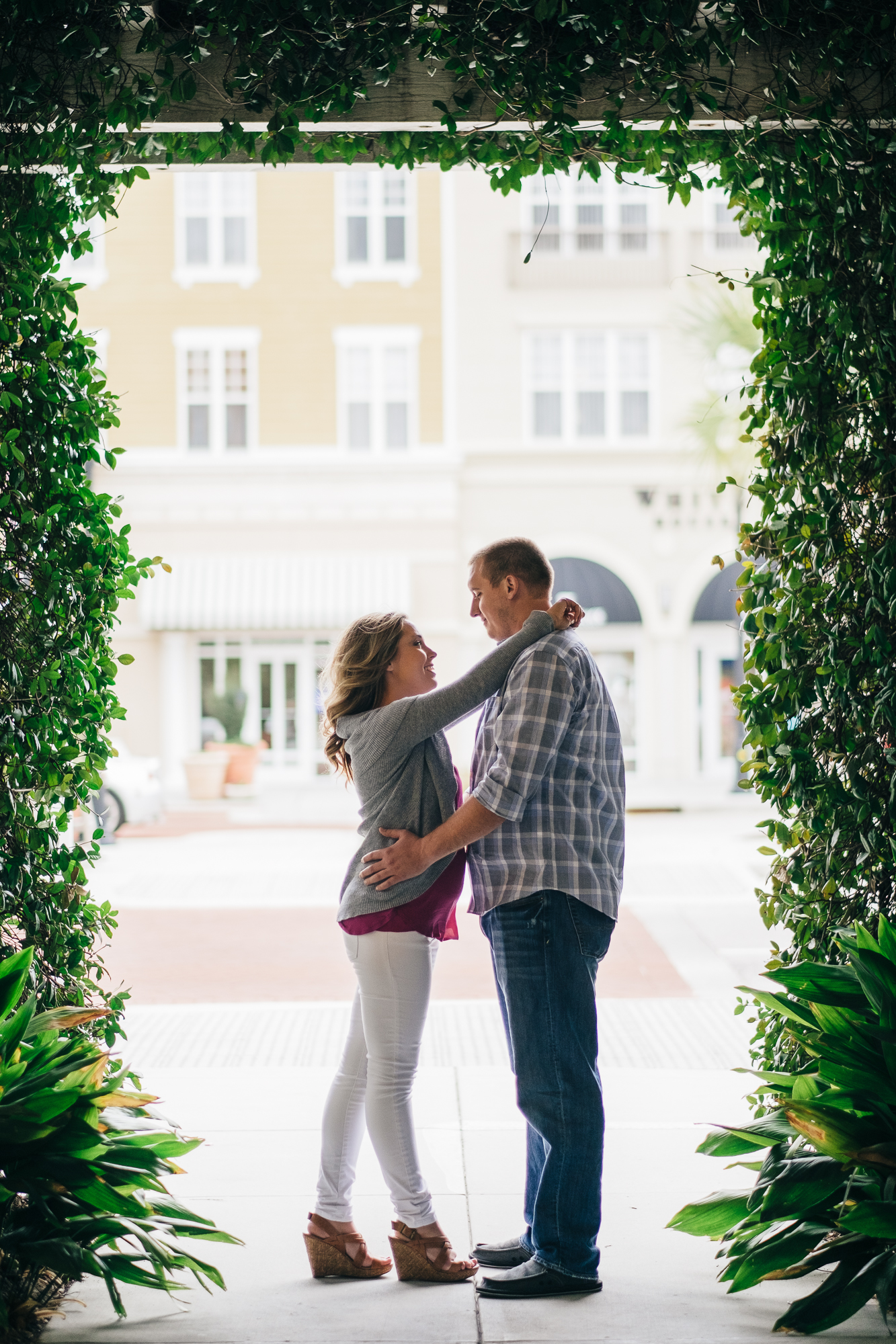 Market Common - Myrtle Beach Engagement Portrait Session  Affordable Wedding Photographer  Jarrett Hucks Photography