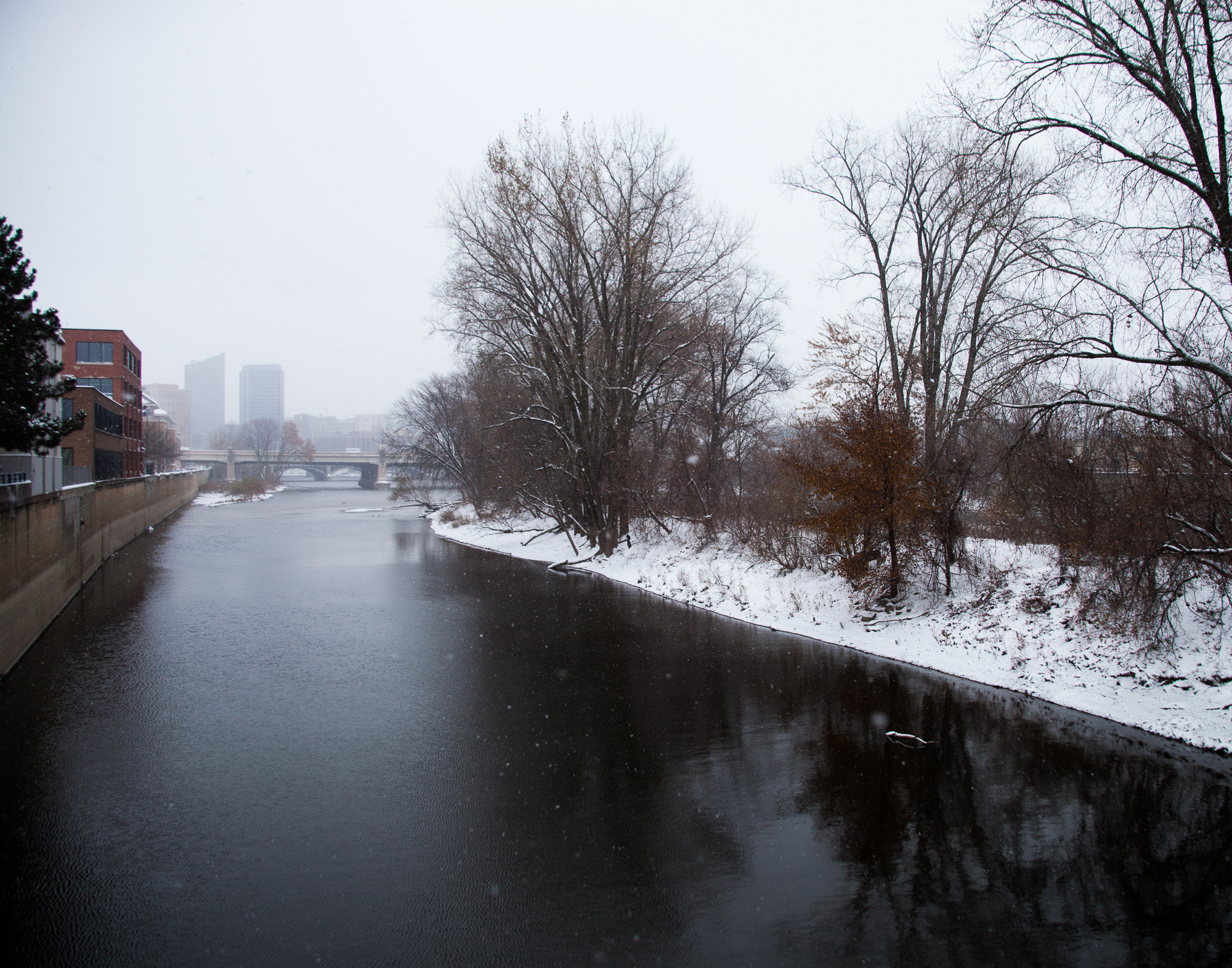 """In the middle of the Grand River is an island that has been nicknamed """"Hobo Island"""" because of the homeless camp that occupied it. A couple years ago a local TV station did a segment on the camp and the authorities disbanded it shortly after."""