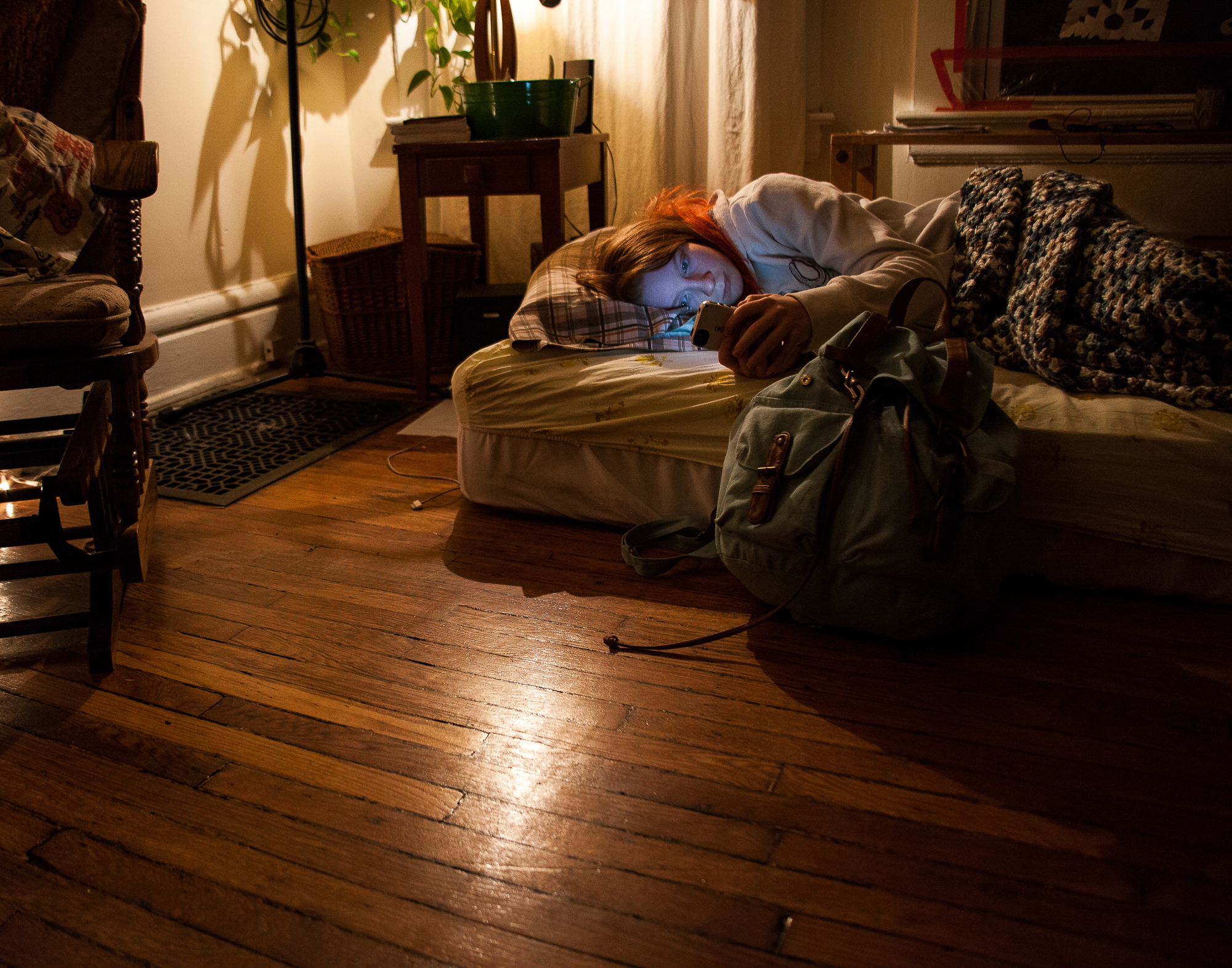 Sometimes finding shelter as homeless teens means crashing in the middle of a friend's living room with nothing to offer them.