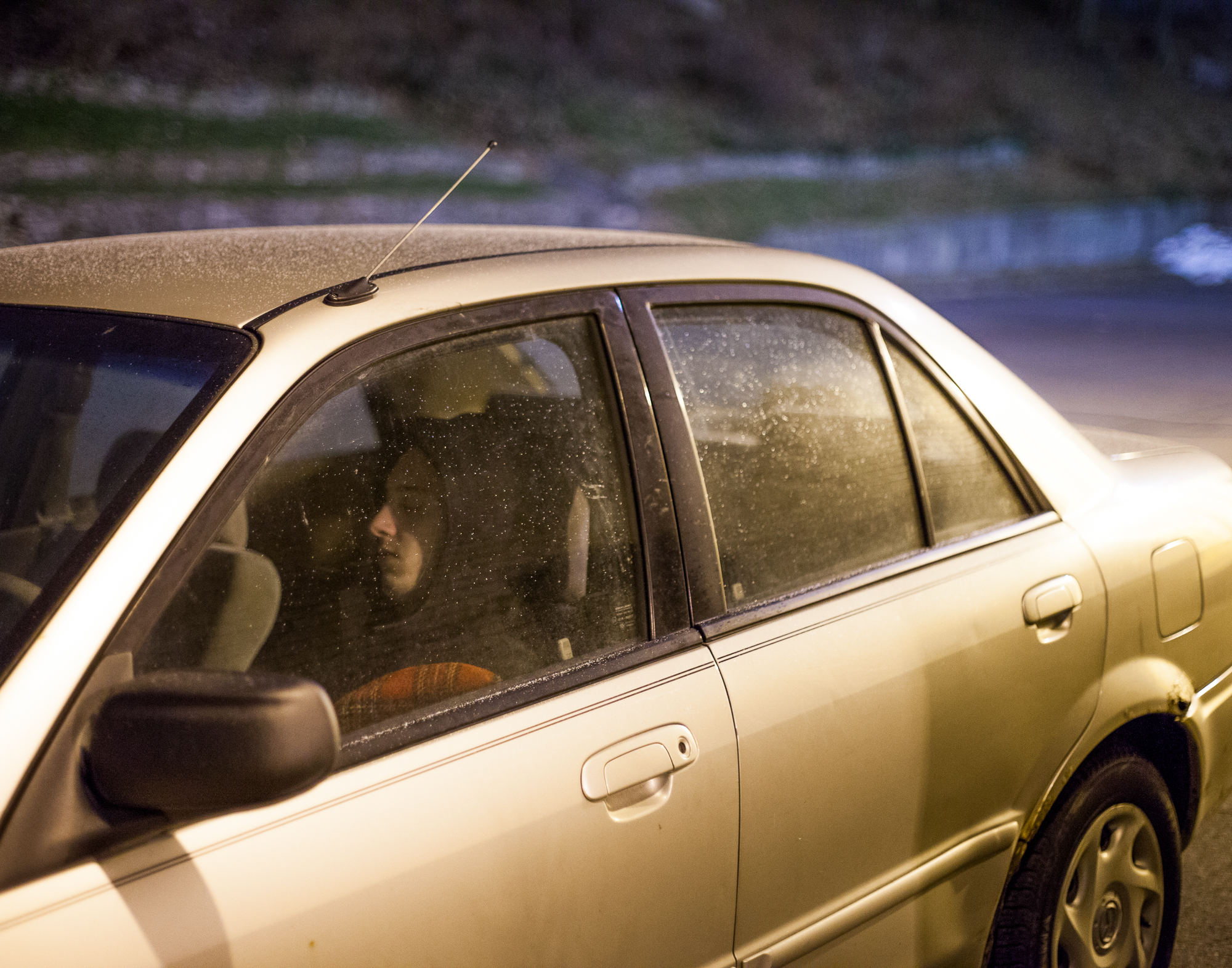 Runaway and homeless youth fortunate enough to own a car use it as a place to sleep as well as a mode of transportation if they have money for gas.
