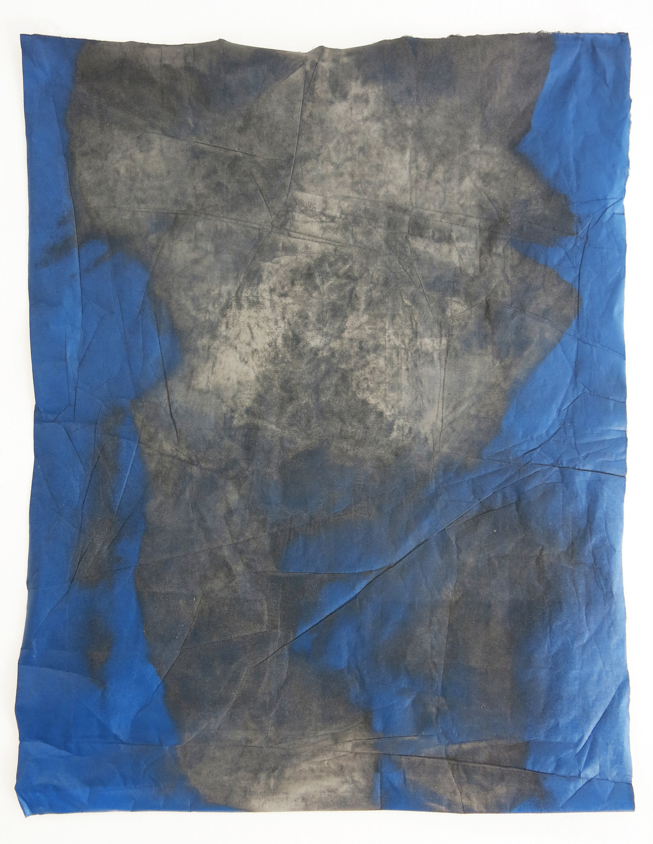 Alva Mooses. Fistful of Dirt, Monoprint and pulverized igneous stones, 2014.