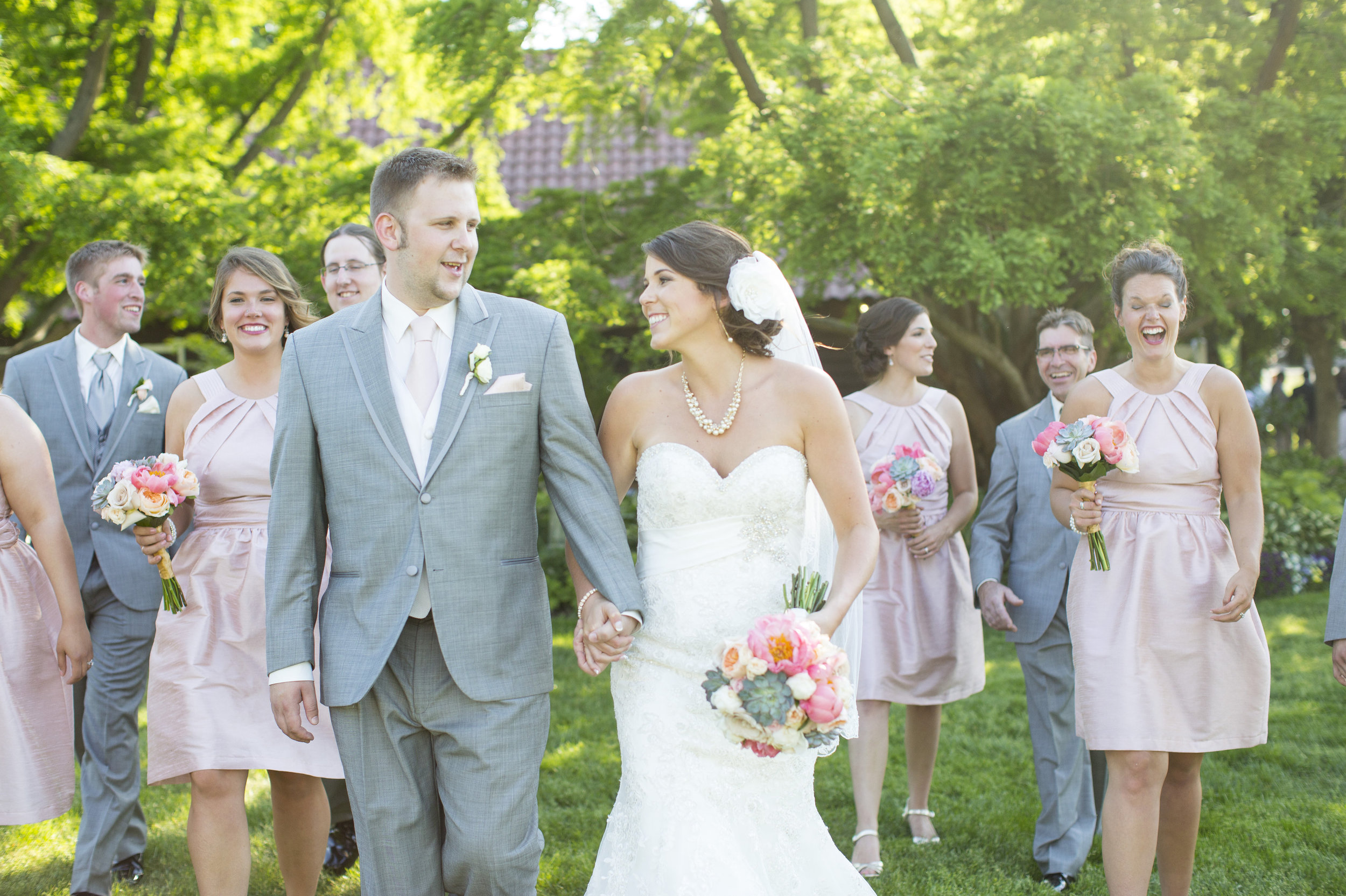 Pink Peony and Succulent Michigan Wedding | Cottage Hill