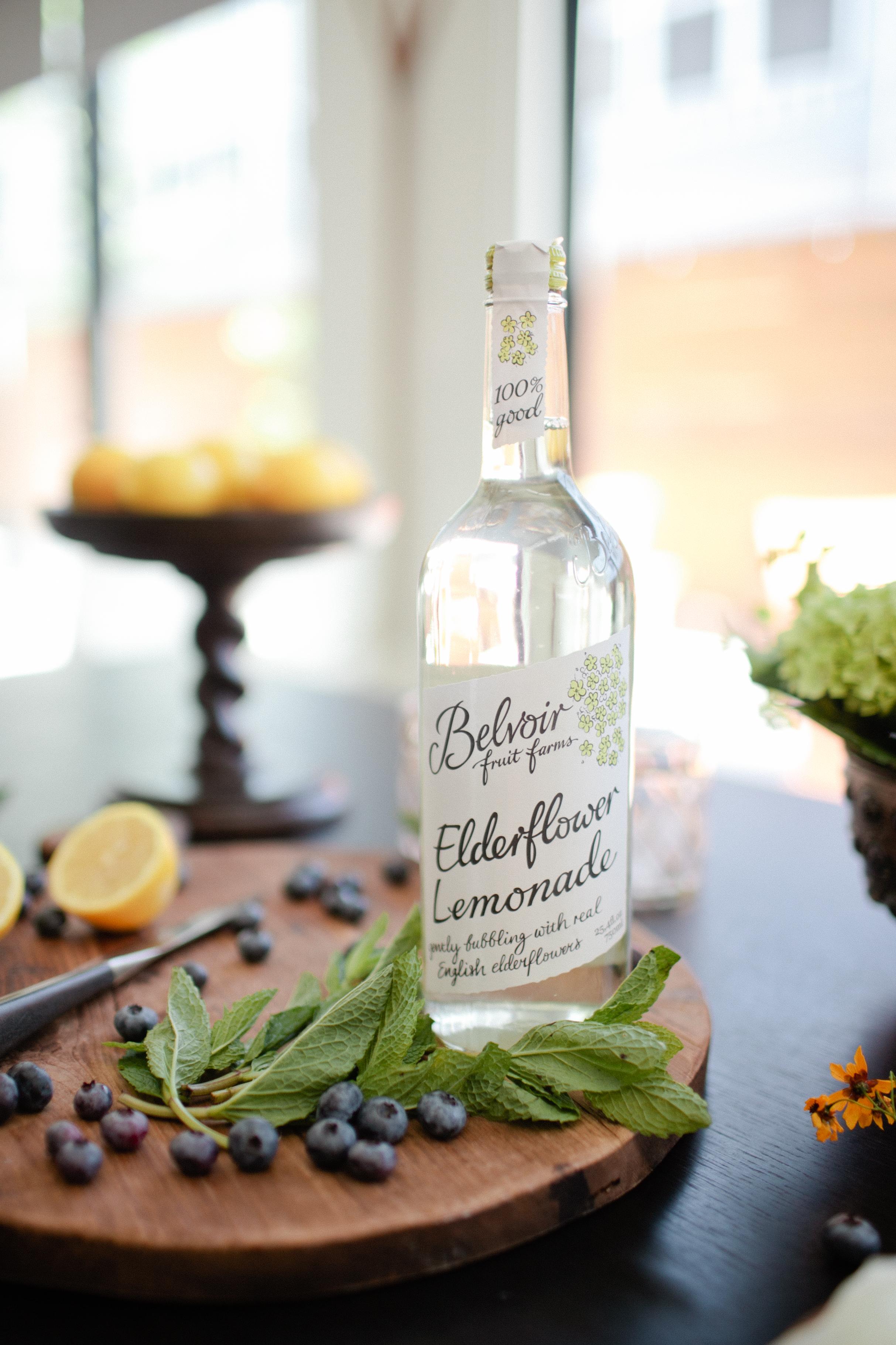 Blueberry Elderflower Lemonade