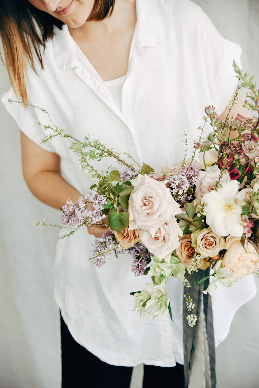 Blooms by Nicole Land of Soil & Stem and ribbons from Frou Frou Chic, now featured on Cottage Hill