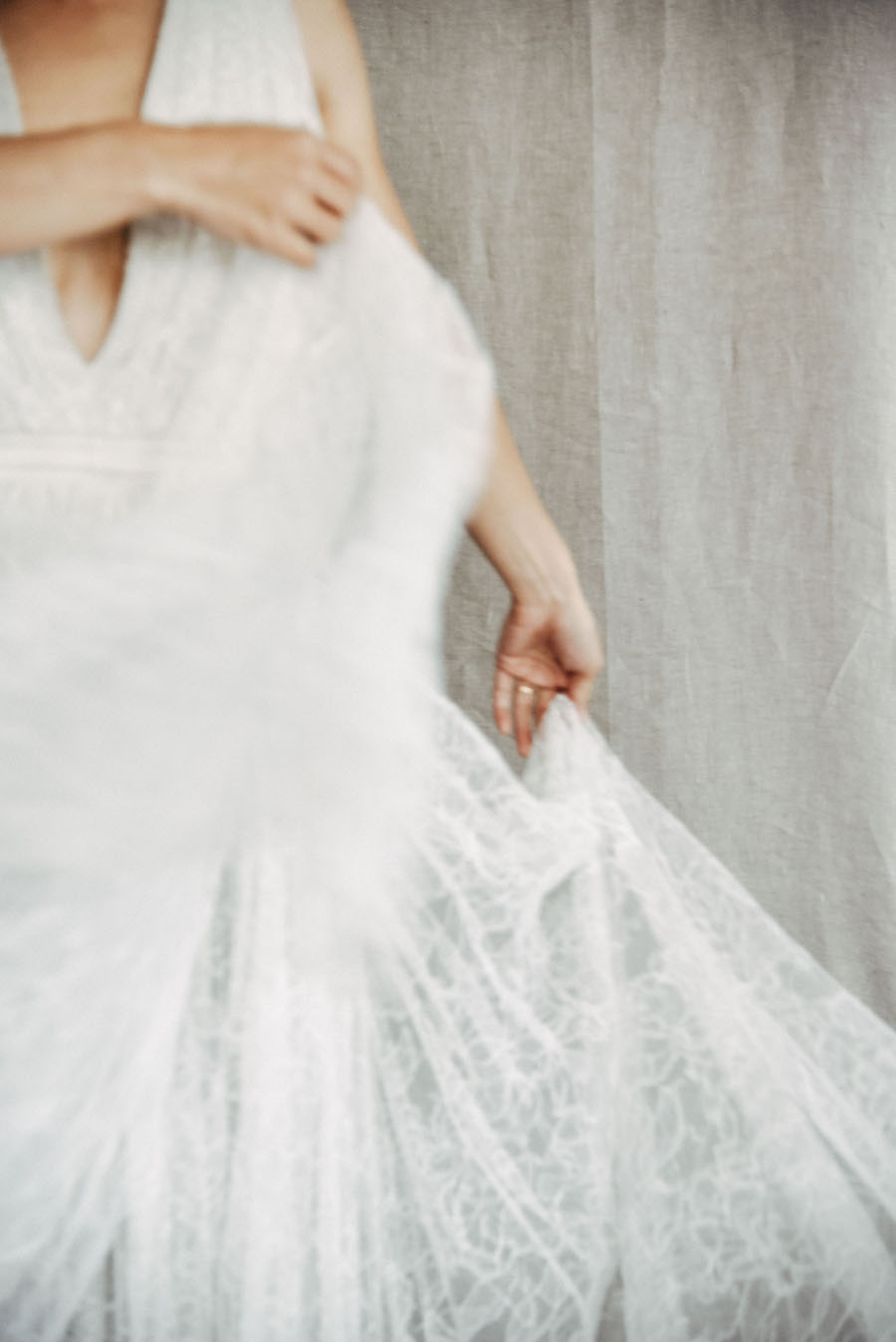 A bride in and out of focus, moving, dreaming, anticipating - see more now on Cottage Hill