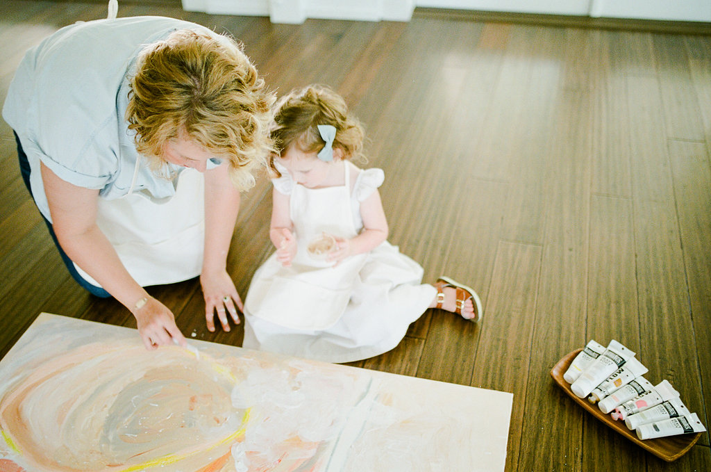 A Mother and Daughter Art Collaboration, now on Cottage HIll