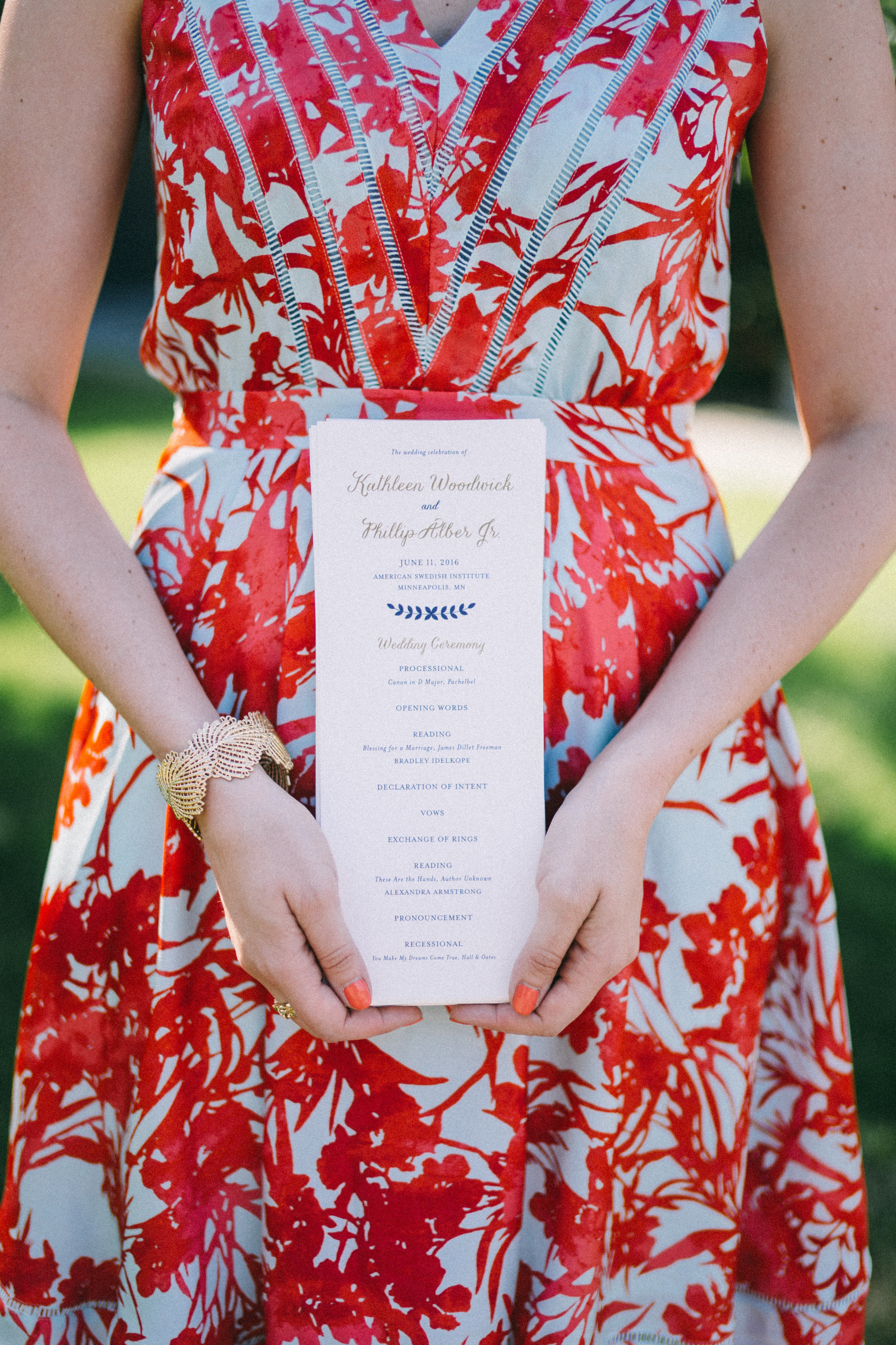 Simple and Bright Wedding Ceremony Program, now on Cottage Hill