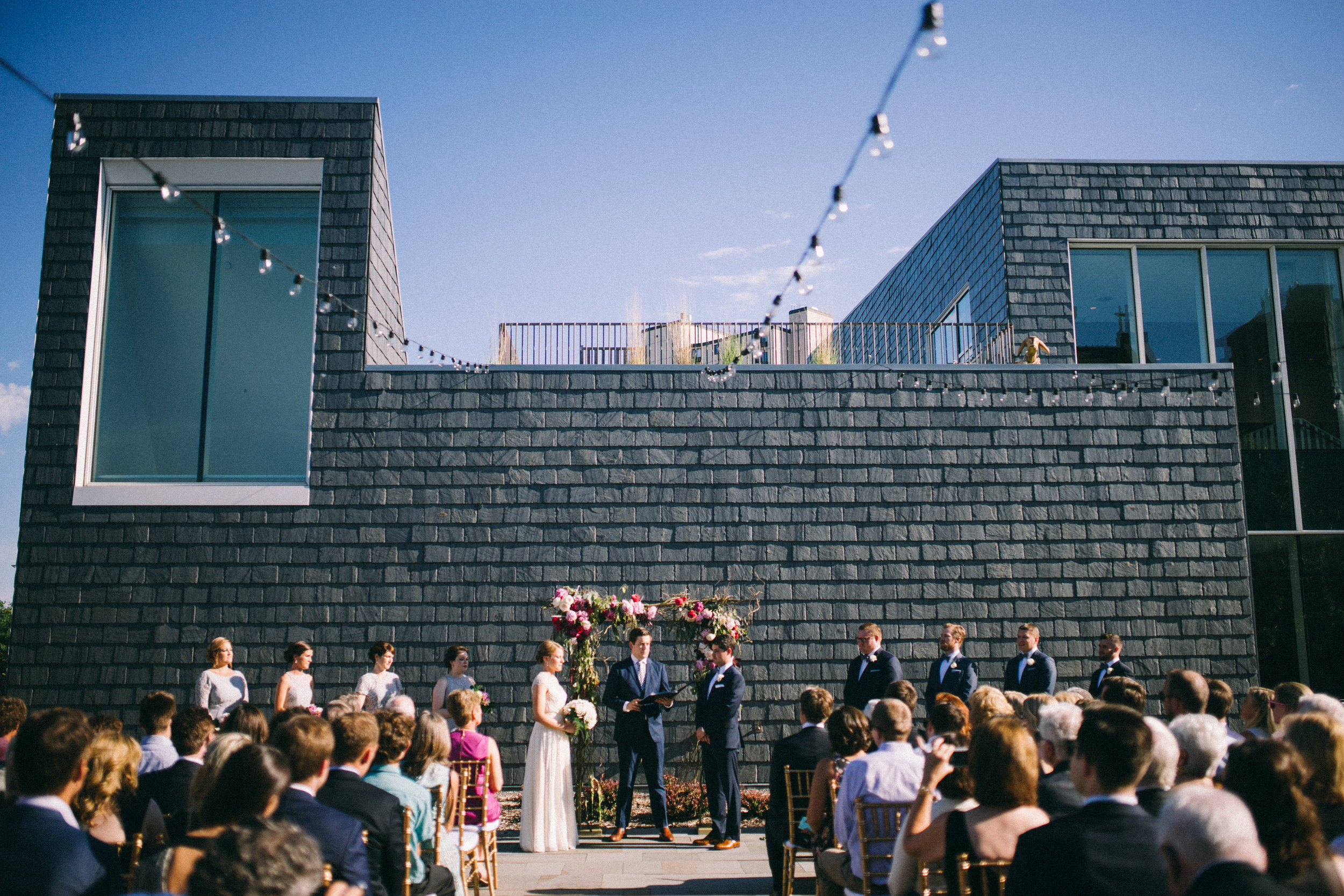 Simple wedding at American Swedish Institute, now on Cottage Hill