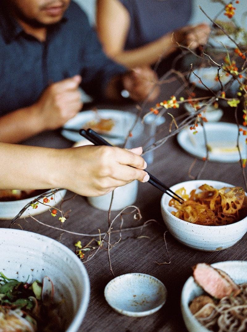 A Casual Evening with Friends and Sunomono Salad Recipe | cottagehillmag.com