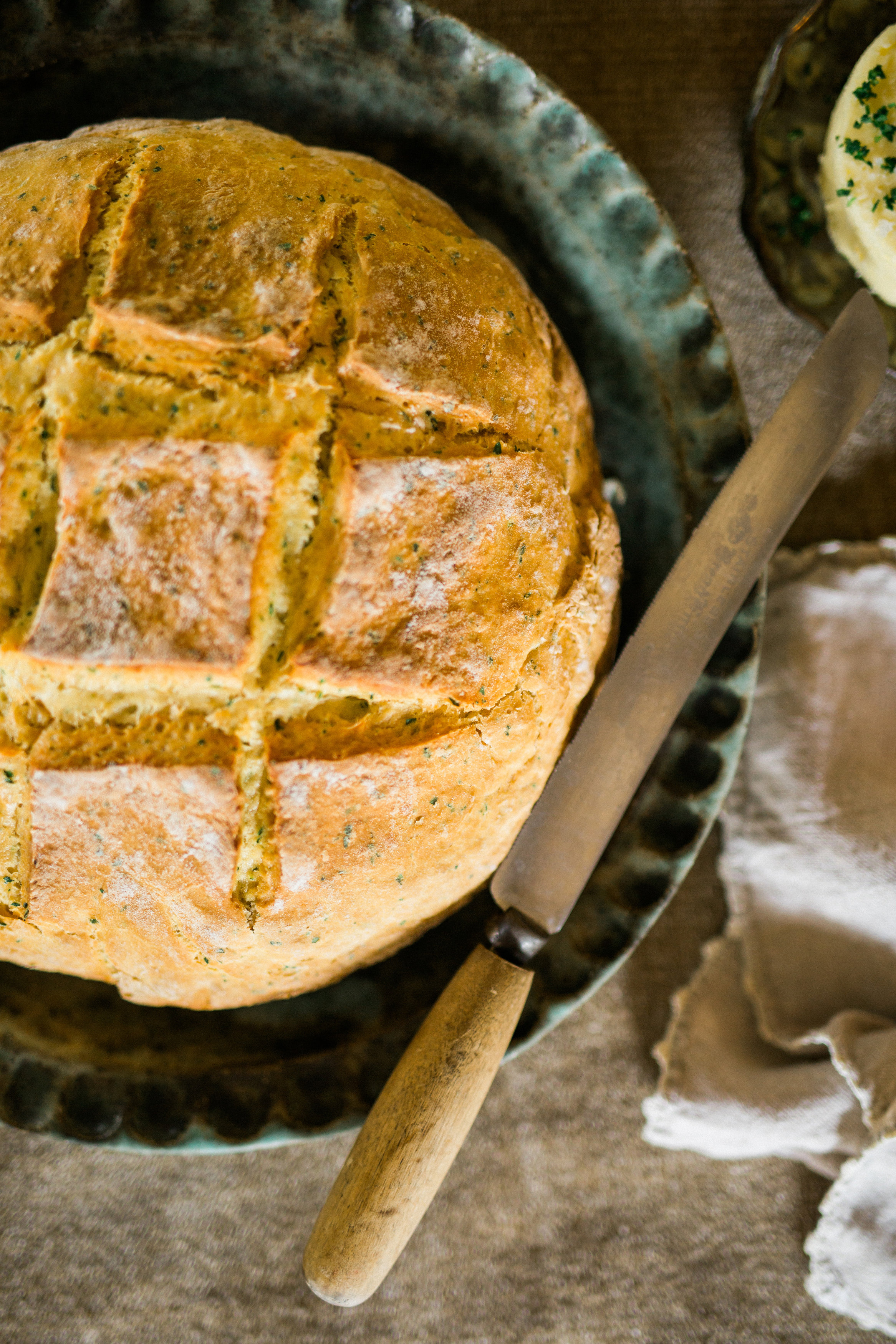 An Irish Supper with Bread Cream Pudding Recipe | cottagehillmag.com