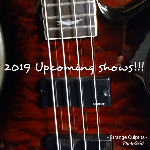 2019 is ramping up! Details for shows coming really soon. We can't wait to see you!
