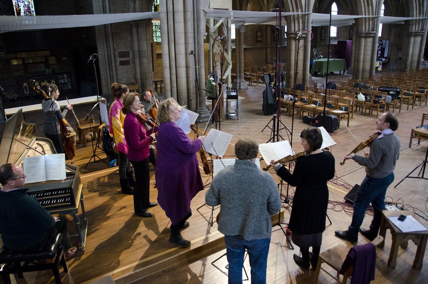 Florilegium in sessions for Brandenburg Concerto No. 3, St John the Evangelist, Upper Norwood, London.