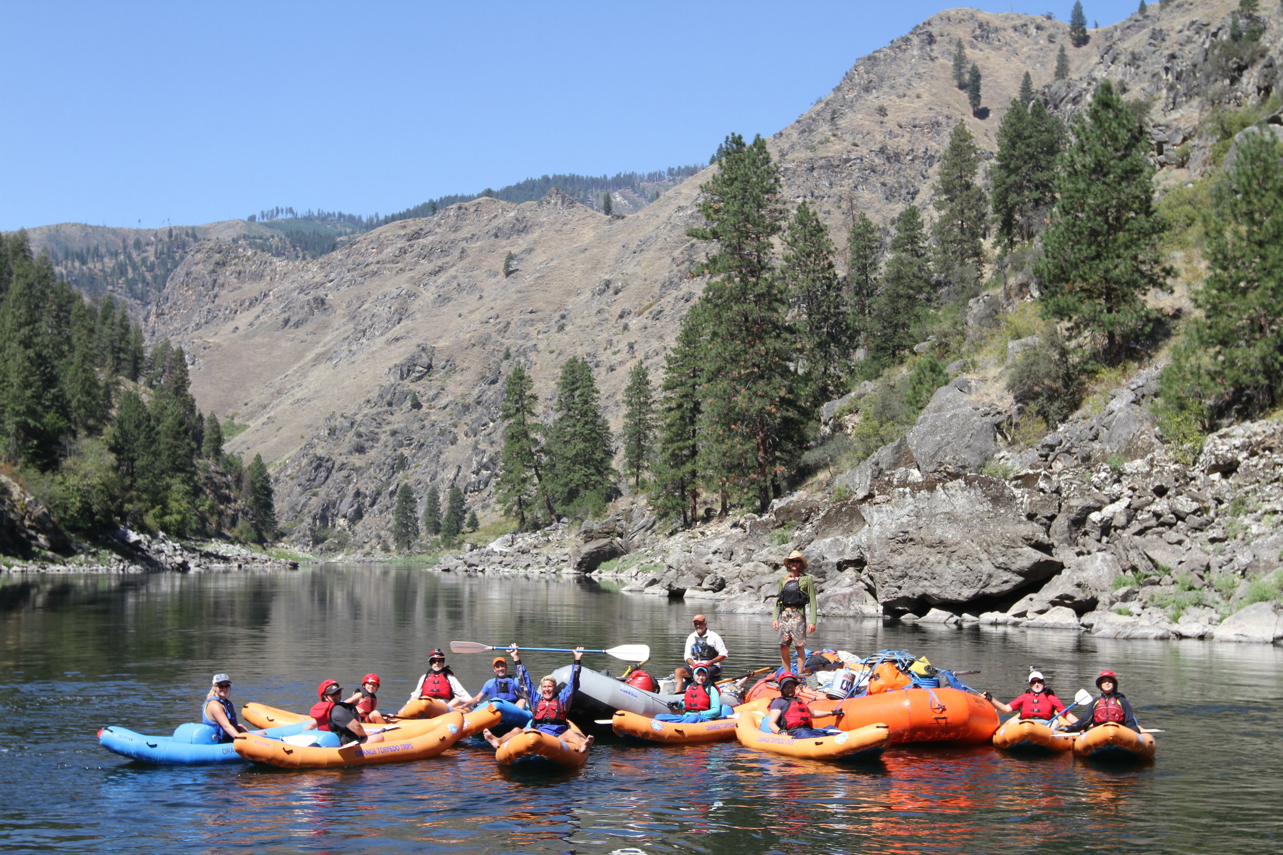 Group ending trip on the Main Salmon River