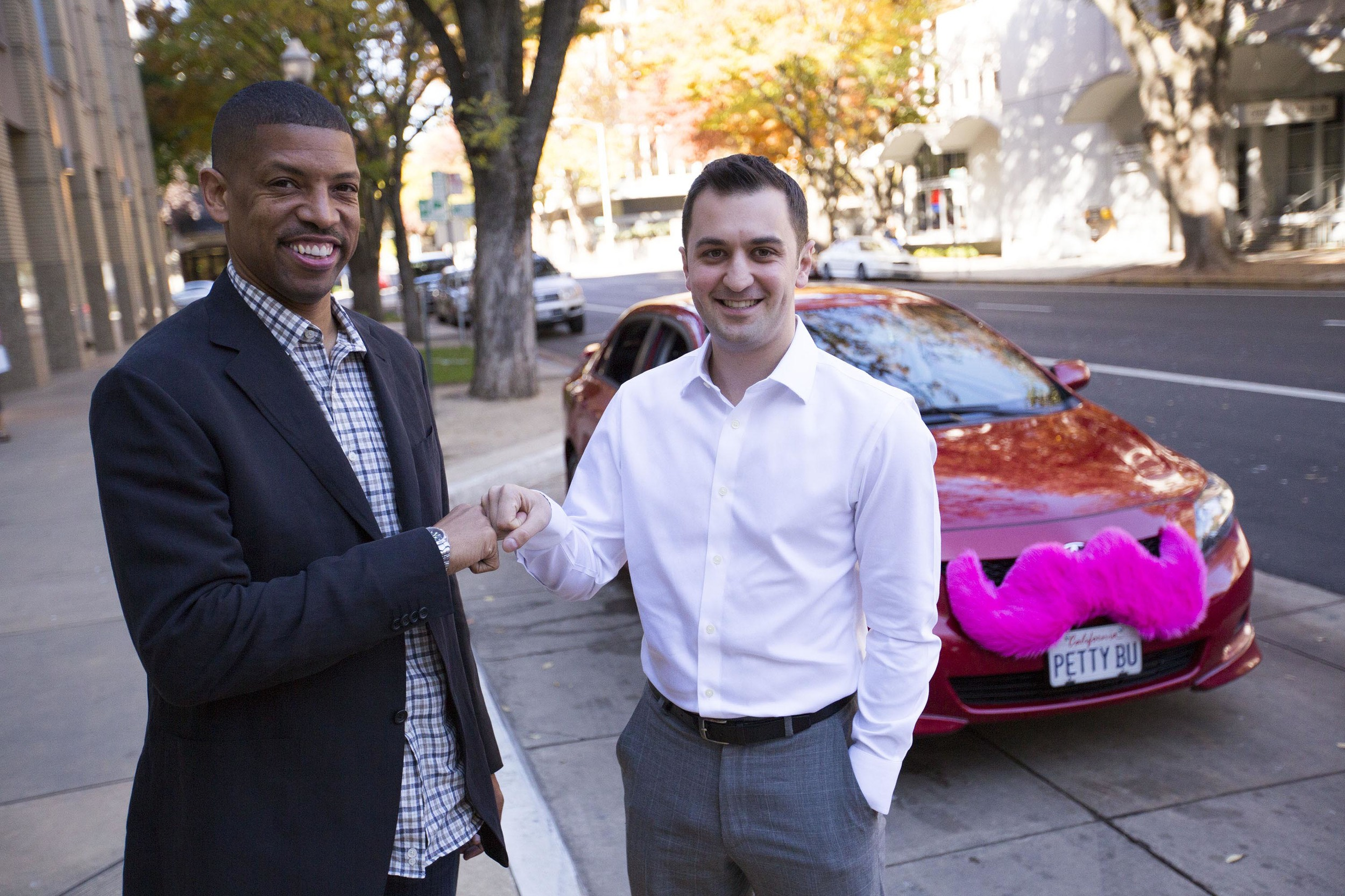 sacramento mayor kevin johnson and lyft's john zimmer