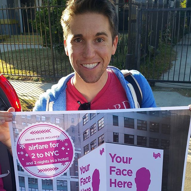 Matt from LA won the grand prize: a trip for two to New York City to see his very own billboard in Times Square!