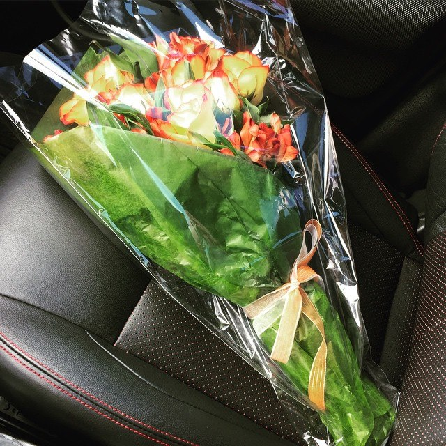 """""""I picked up a Lyft passenger and he tried ordering flowers for a special someone on the phone. They were outrageously priced for same day delivery! So I stopped by a flower shop so he could hand-pick a bouquet and then I offered to drop them off to her after I drove him home."""" -Renee in Dallas"""