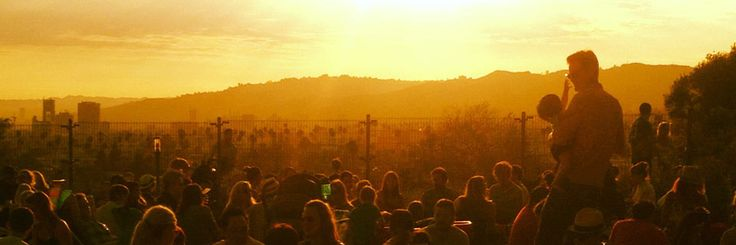 Friday Night Sunset @ Barnsdall Art Park. Photo Credit: LA Times
