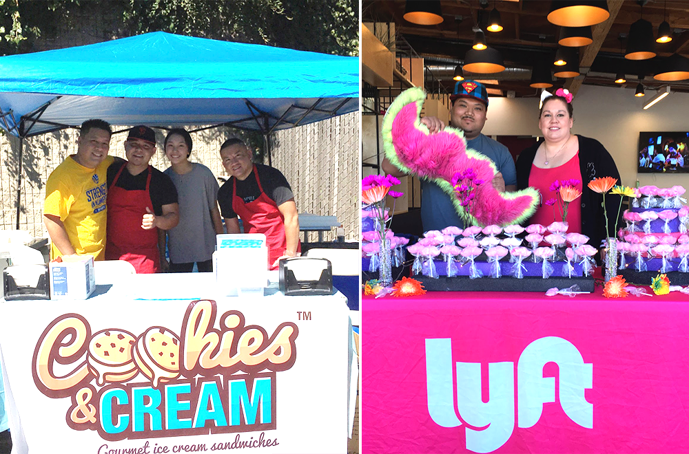 Drivers with a sweet tooth were able to satisfy their cravings with Cookies & Cream and treats by Sweet Lyft.