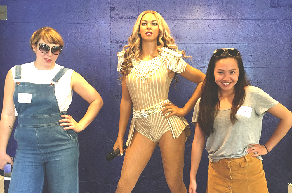 A guest appearance from (wax)Beyonce lured in members of the Beyhive.