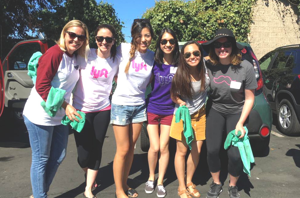 Lyft employees teamed up with our friends at Spotless to provide free waterless carwashes.