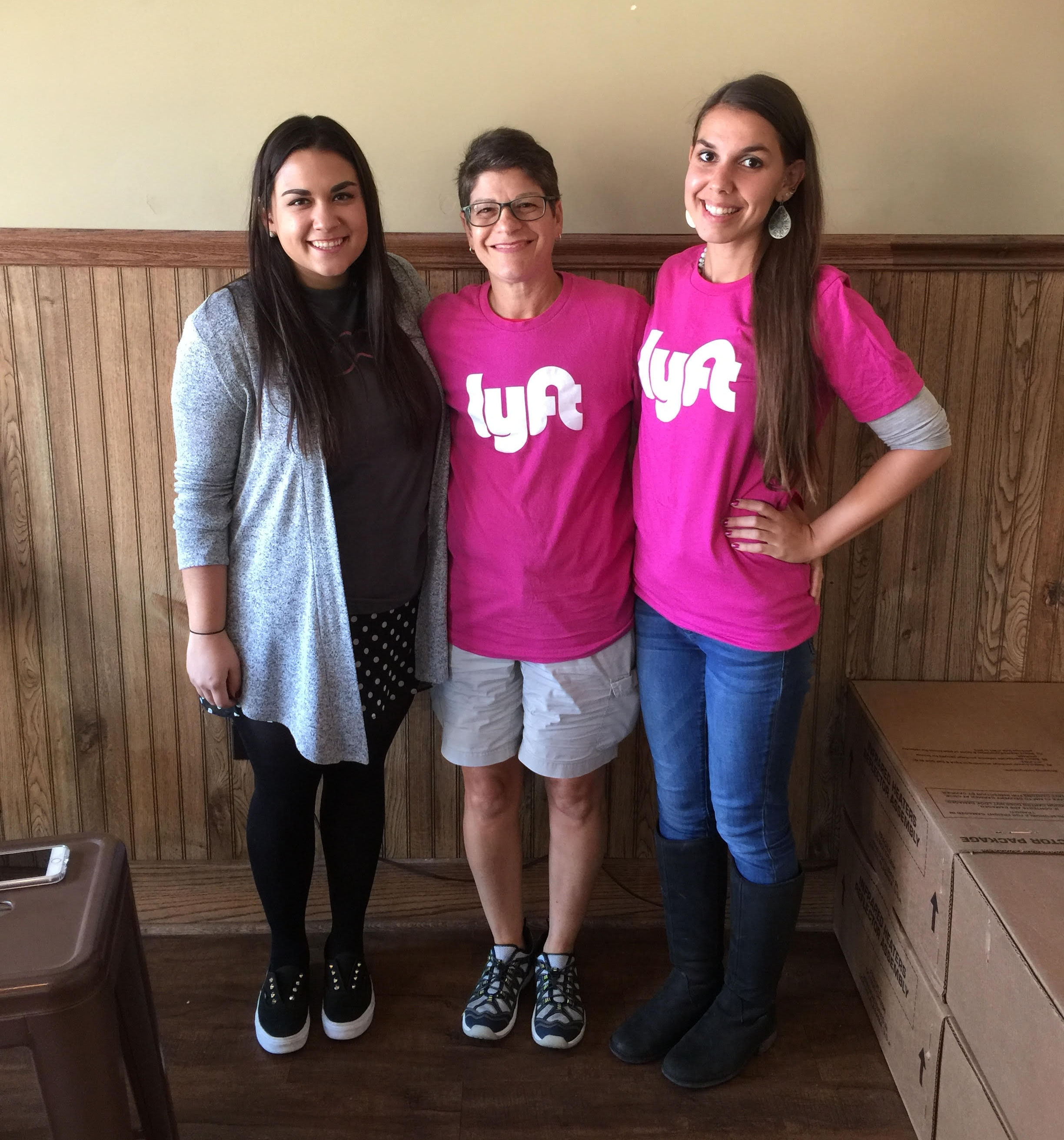Debbie hanging out with the Lyft Chicago team.