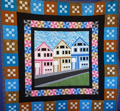 One of Jim's handmade quilts.