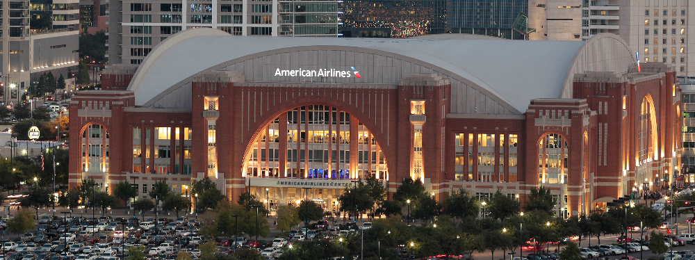 Located in Victory Park, close to Downtown Dallas.  (Photo credit:American Airlines Center)