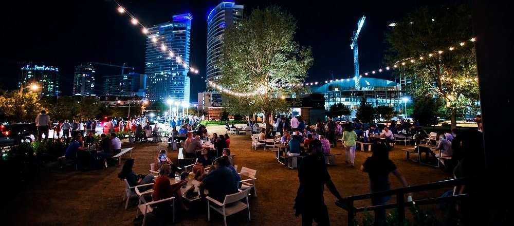 Located in the Harwood District, down the street from the American Airlines Center. (  Photo credit: The Happiest Hour)