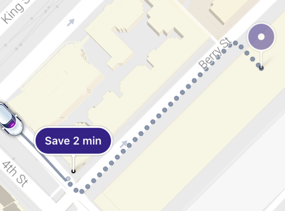 Lyft will automatically look for a more convenient pickup spot within walking distance from you
