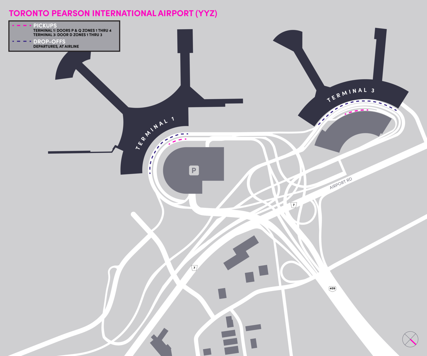 Pearson Airport Map on