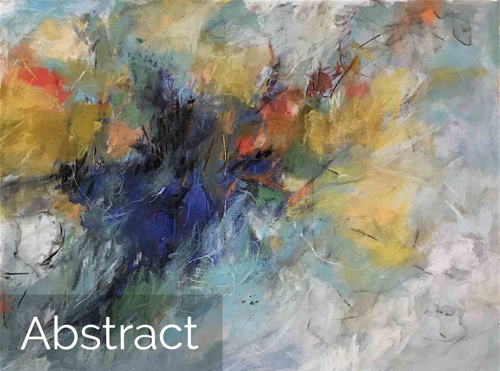 Michèle J. Kenna Abstract Paintings for Sale - Pastel and Mixed Media