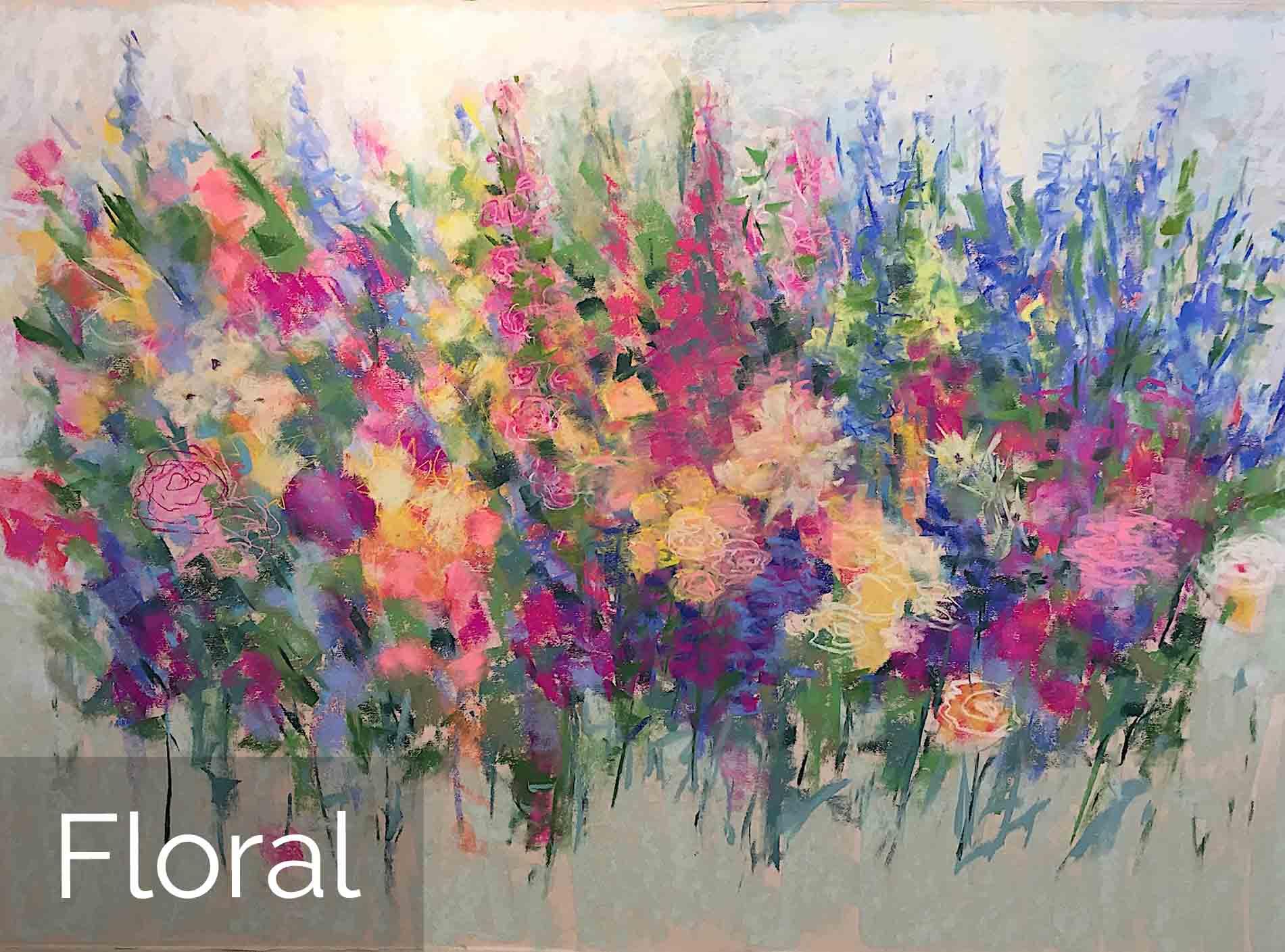 Michèle J. Kenna Floral Paintings for Sale - Pastel