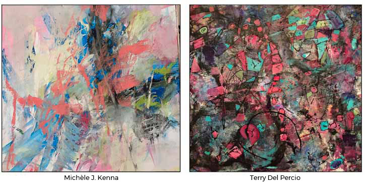 Michèle J. Kenna Events: Porter Mill Abstracts Show with Terry Del Percio-Piemonte