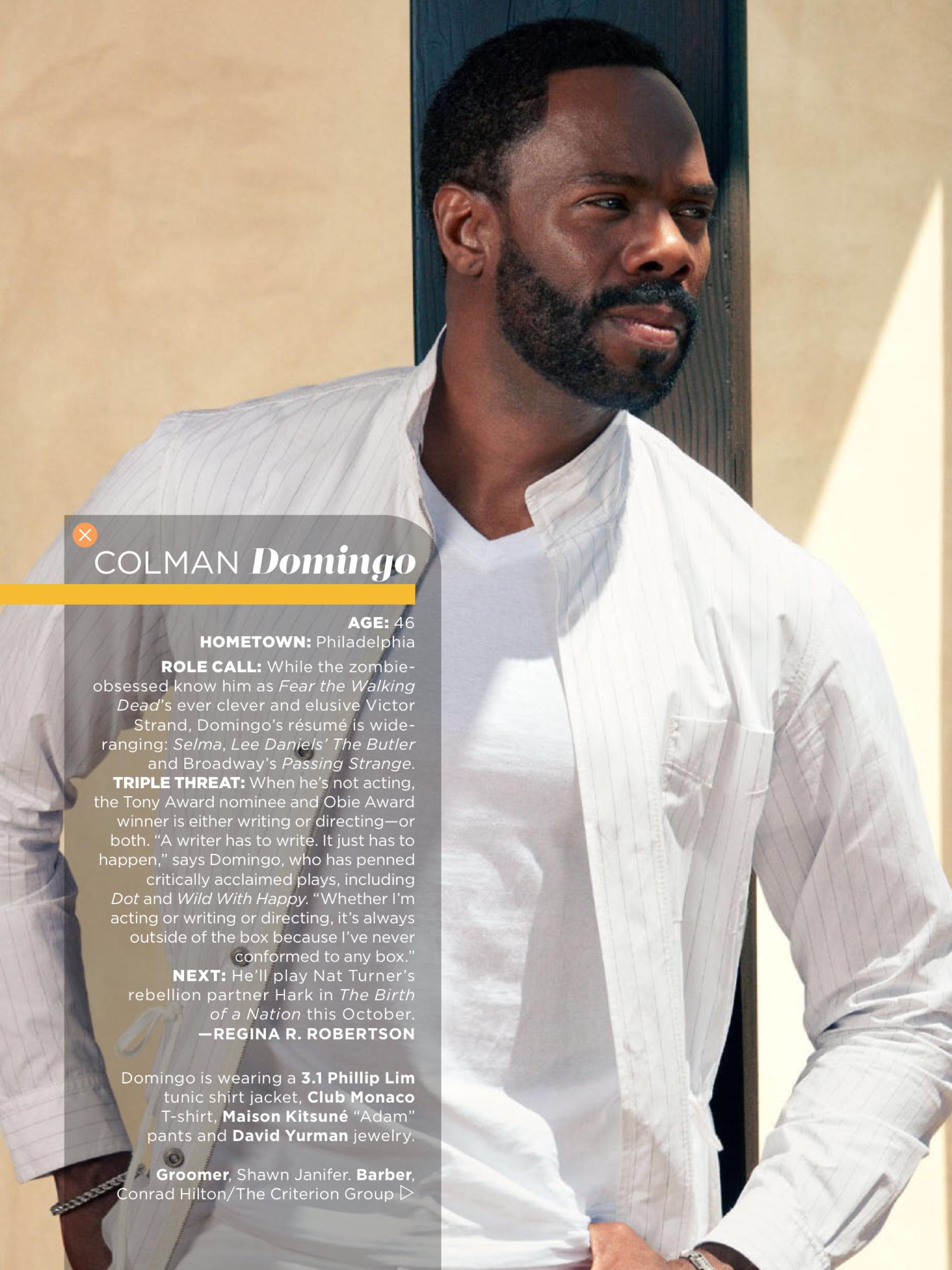 Essence Magazine July 2016 Classic Men Issue  Feature   Colman Domingo