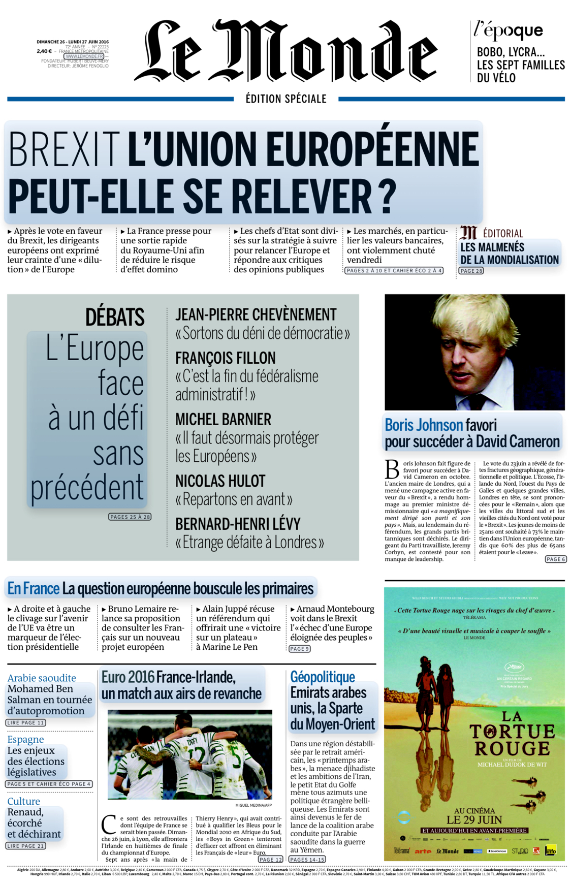 Le Monde Front Page | Fear The Walking Dead- Camera In The Middle Of The Ocean