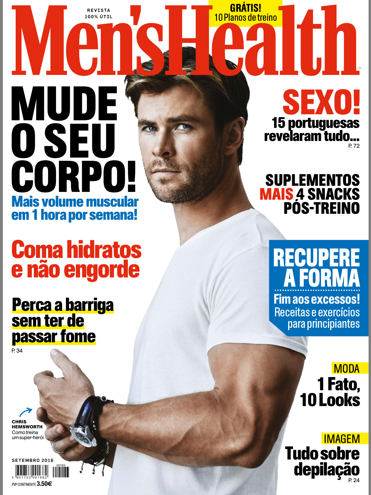 Men's Health Portugal Cover September 2016