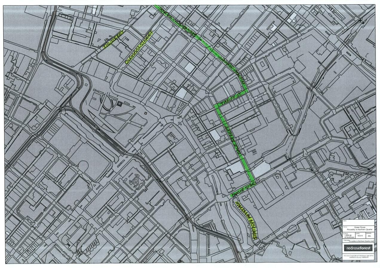 Alternative Green Walking Route
