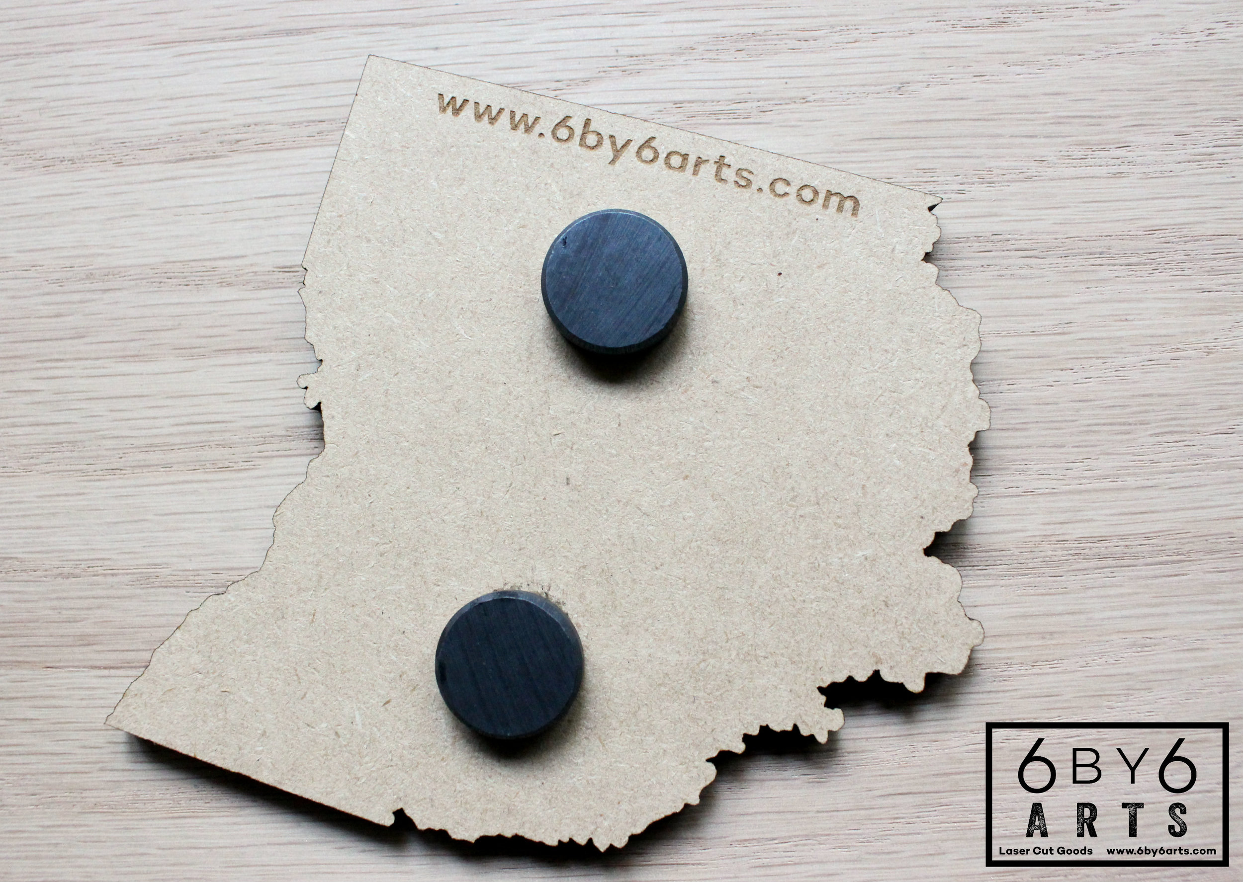 Ohio state shaped mini chalkboard magnets.