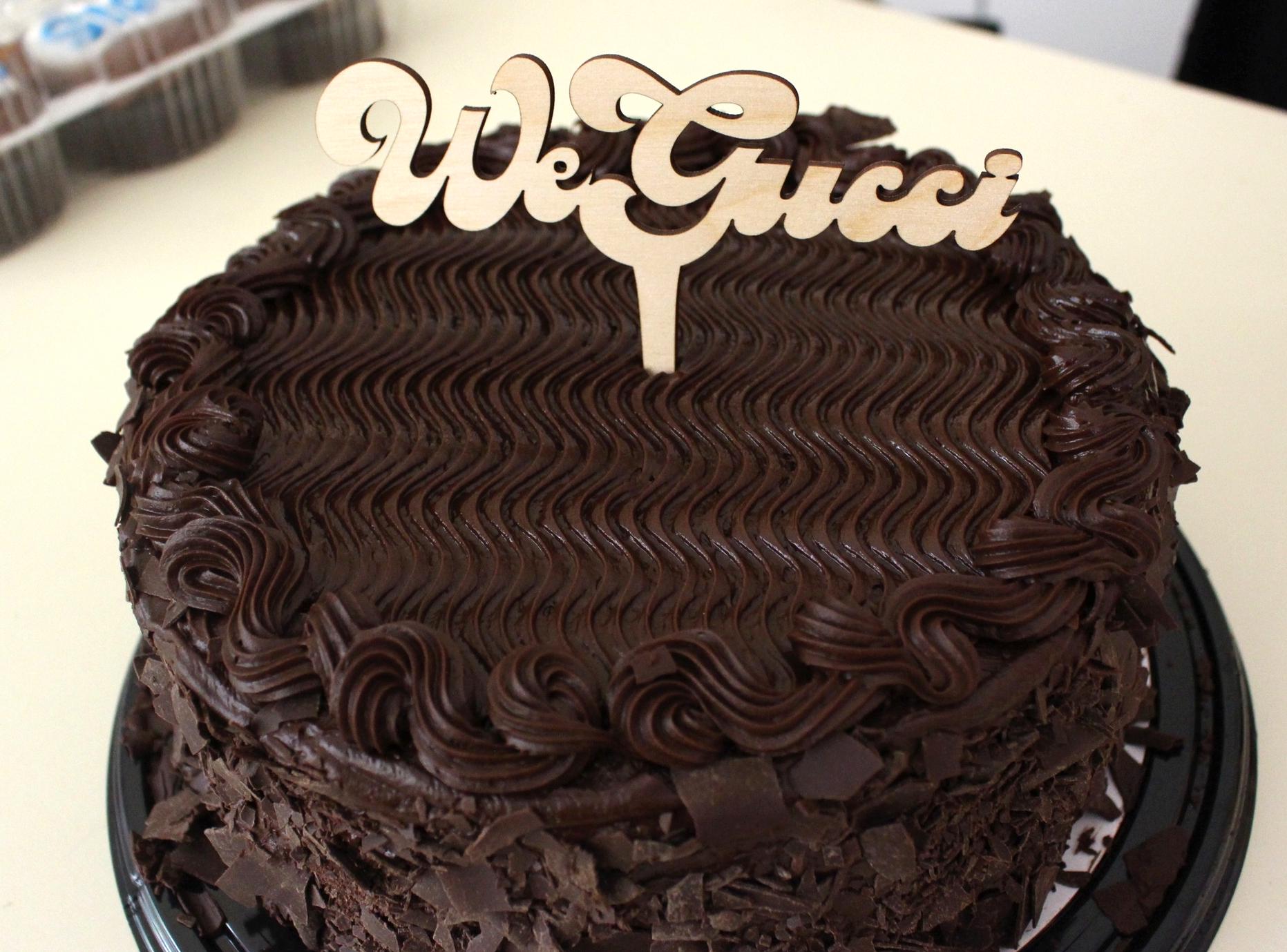 We Gucci -Laser Cut Wood Cake Topper