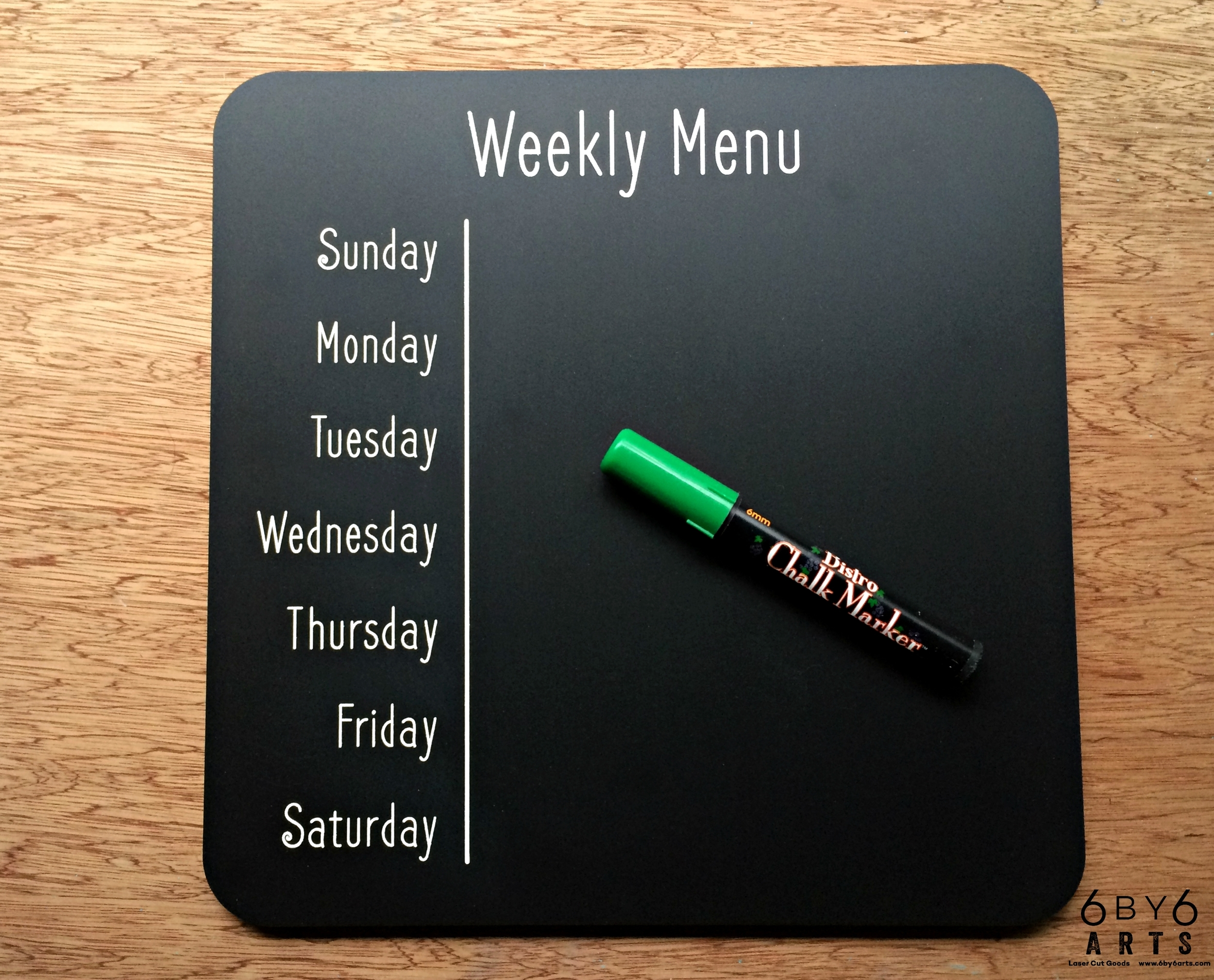 Weekly Menu Chalkboard *updated*